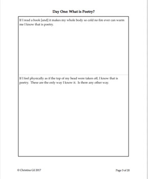 Poetry Unit for Upper Elementary: Elements of Poetry | Poetry Writing