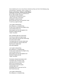 Poetry Unit- using rap and music
