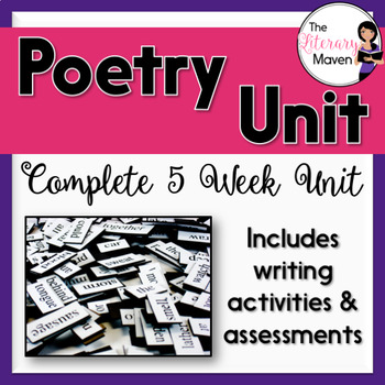 Poetry Unit with Assessments and Writing Activities