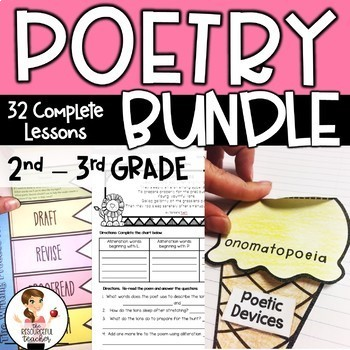 Poetry Writing Bundle with Interactive Notebook & Lapbook