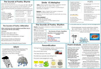 Poetry Unit with Student Poetry Book