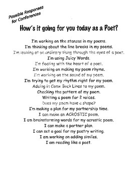 Poetry Units for Balanced Literacy