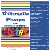 Villanelle Poetry for Middle School (Grades 7-9)