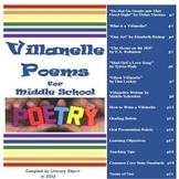 Villanelle Poetry for Middle School (Grades 7-9)