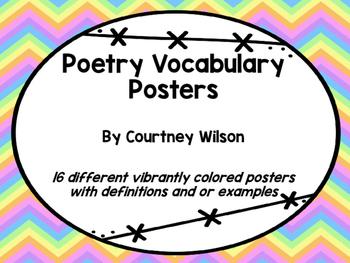 Poetry Vocab Poster Set