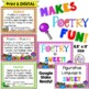 Poetry Vocabulary Posters & PowerPoint (33 Poetry Terms)