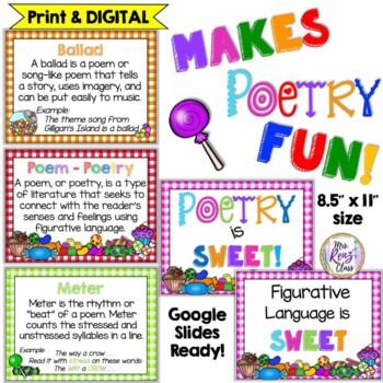Figurative Language Digital Flip Book, PPT & Posters - 35 Terms  DIGITAL & Print
