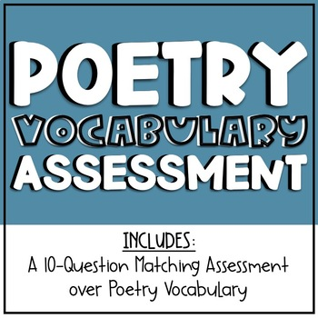 Poetry Vocabulary Assessment
