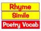 Poetry Vocabulary Cards