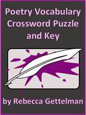 Poetry Vocabulary Crossword Puzzle
