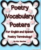 Poetry Vocabulary Posters in English and Spanish