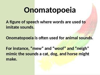 Poetry Vocabulary PowerPoint
