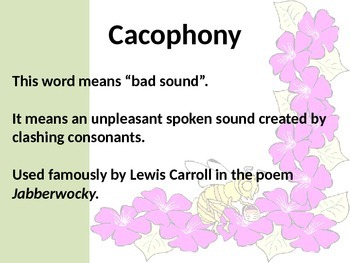 Poetry Vocabulary PowerPoint