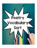 Poetry Vocabulary Sort