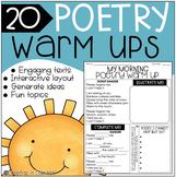 Poetry Writing {Warm Ups}