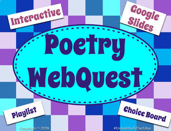 Poetry WebQuest - Define Terms, Give Example, Show Learning - Hyperdoc
