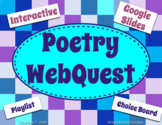 Poetry WebQuest - Define Terms, Give Example, Show Learnin