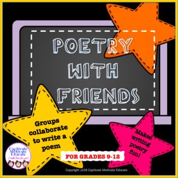 Collaborative activity, poetry writing, fun stuff, creative writing, printables