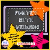Collaborative activity, poetry writing, fun stuff, creative writing, printables