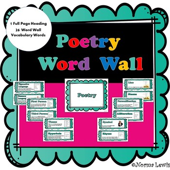 Word Wall Words for Poetry