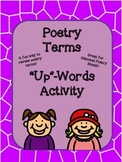 "Poetry ""Up""-Words Activity"