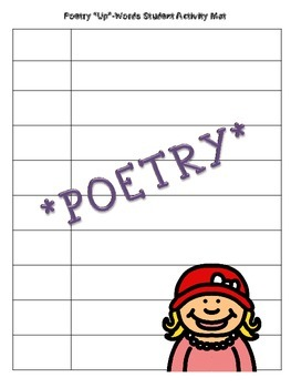 """Poetry """"Up""""-Words Activity"""