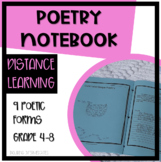 Poetry Notebook for Intermediate and Middle School Students - 10 Poetic Forms!
