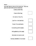 Poetry Worksheet