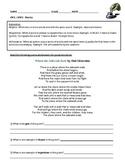 Poetry Worksheets - Independent Practice
