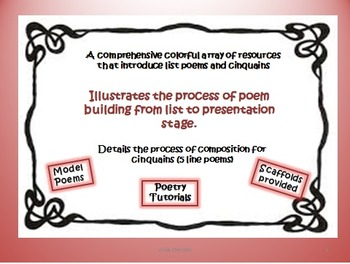 Poetry Workshop - Cinquains & List Poems