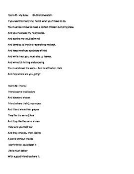 Poetry Write around