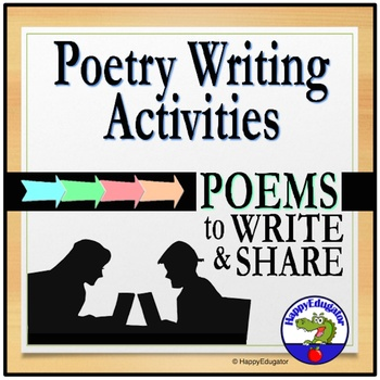 Poetry Writing: 20 Poem Patterns for Class Poets and Ink Friendly B/W Printables