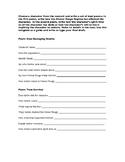 Poetry Writing Activity for The Years of Zero