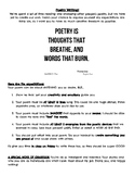 Poetry Writing Assignment!