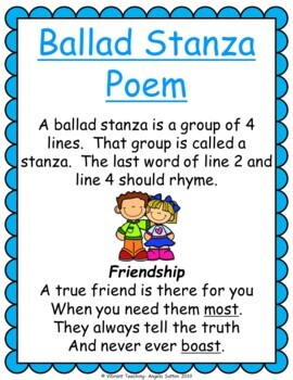 Poetry Writing: Ballad Stanza Poems (Activities, Templates, and Writing Paper)