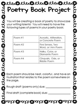 Poetry Writing Book Project