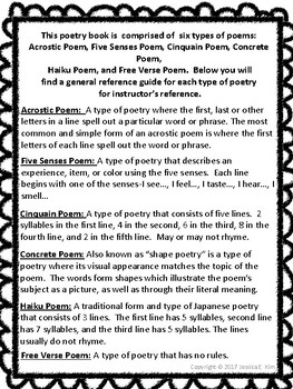 types of poems