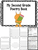 2nd Grade Student Poetry Journal Book Printable