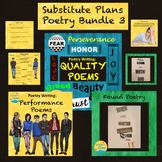 Substitute Plans Writing Bundle  Found Poems, Quality Poems, Participation Poems