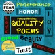 Substitute Plans Poetry Writing Bundle 3, Art Project, Gro