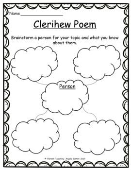 Poetry Writing: Clerihew Poems (Activities, Templates, and Writing Paper)