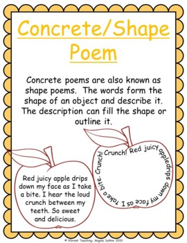 Poetry Writing: Concrete/Shape Poems (Activities, Templates, and Writing Paper)