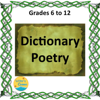 Writing Dictionary Poetry, Substitute Plan, Fun Stuff, Math Problem