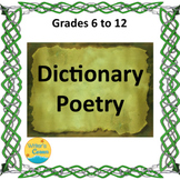 Writing Dictionary Poetry, Substitute Plan, Fun Stuff, Mat