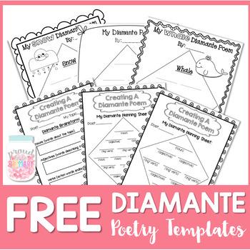 FREE Poetry Writing {Diamante Poems}
