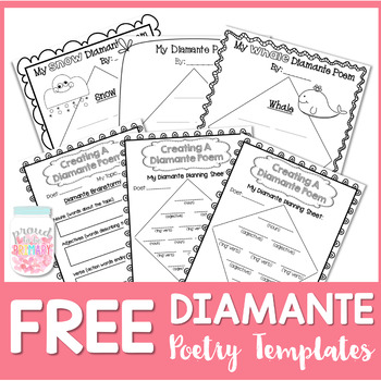 photograph regarding Diamante Poem Template Printable called No cost Poetry Crafting Diamante Poems as a result of Happy in the direction of be Major