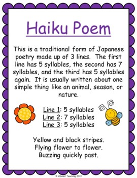 Poetry Writing: Haiku Poems (Activities, Templates, and Writing Paper)