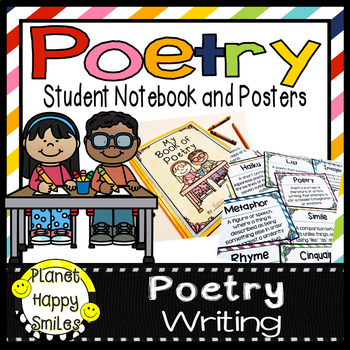 Poetry Writing Notebook, Posters, and Banner
