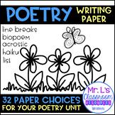 Poetry Writing Paper - Writing Workshop