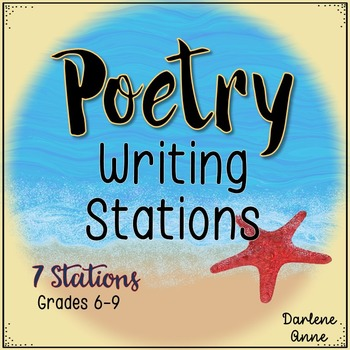 POETRY WRITING STATIONS & POETRY TEMPLATES FOR MIDDLE SCHOOL ENGLISH